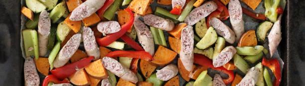 Sausage and roasted veg
